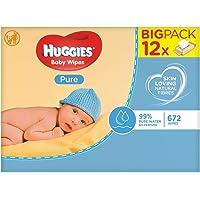 Huggies Pure - Toallitas para bebé, 672 toallitas
