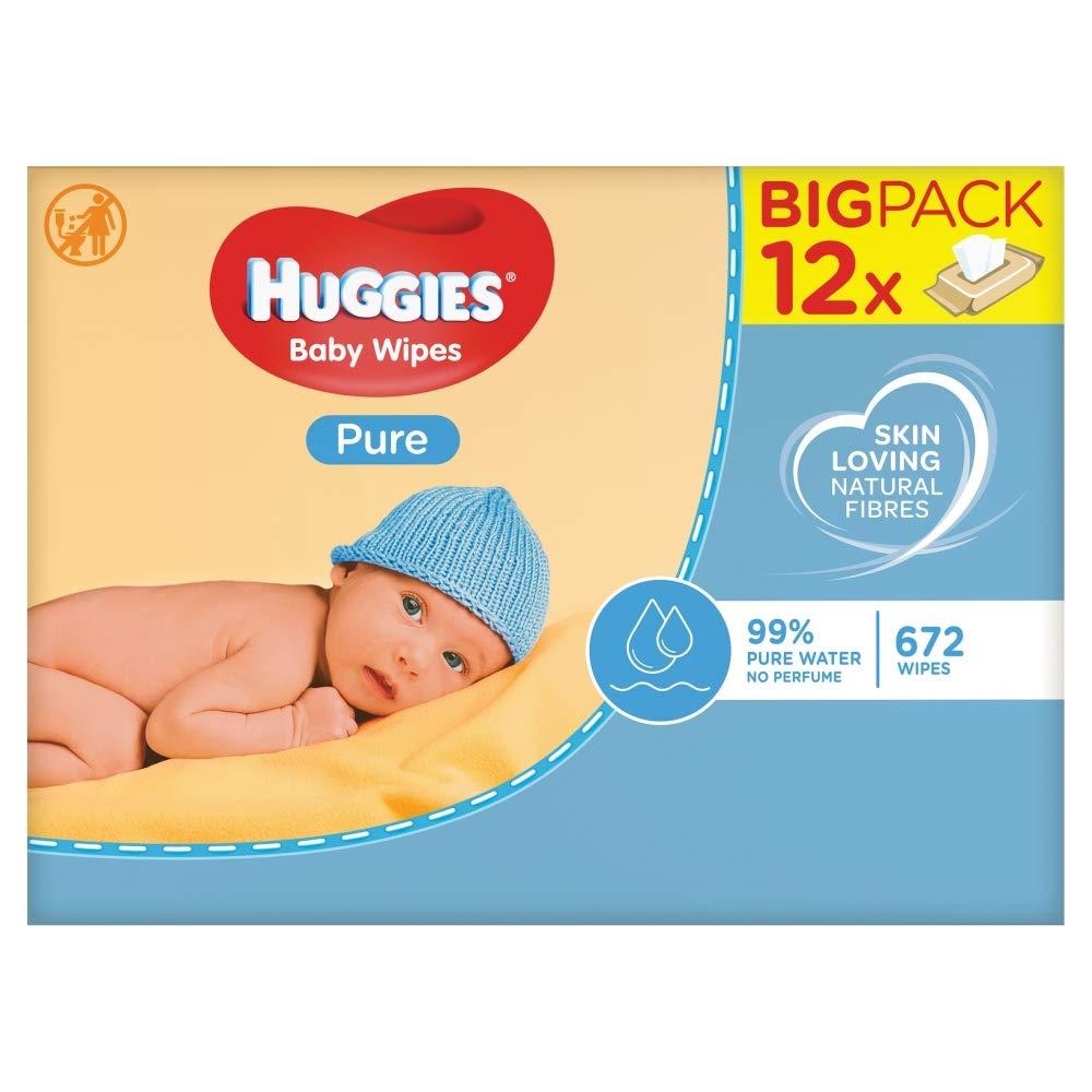 Huggies Pure - Toallitas para bebé, 672 toallitas Kimberly-Clark 2434360
