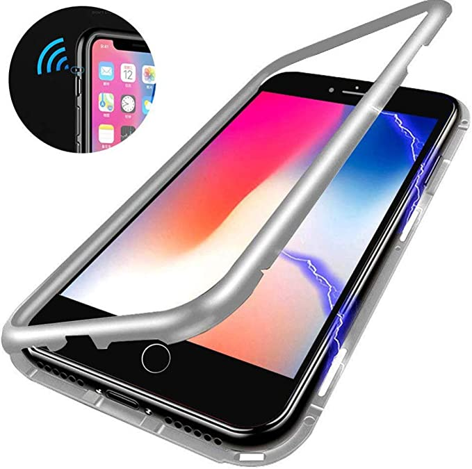 Black//Privacy, iPhone 11 HIKERCLUB Magnetic Adsorption Case Full Body Protection Built-in Screen Protector Front and Back Double Sided Glass Anti Scratch Luxury Metal Bumper Case