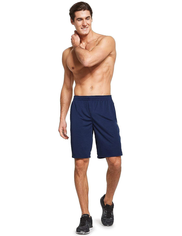 BALEAF Mens Running Shorts Gym Athletic Short Zipper Pockets 2 Pack