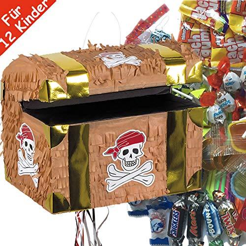 100 pi/èces de Bonbons de Carpeta Pinata de Traction Espagnol pour 12 Enfants Superbe Jeu de Pirates pour Anniversaire denfant avec bo/îte /à tr/ésors Carpeta Set de Pinata
