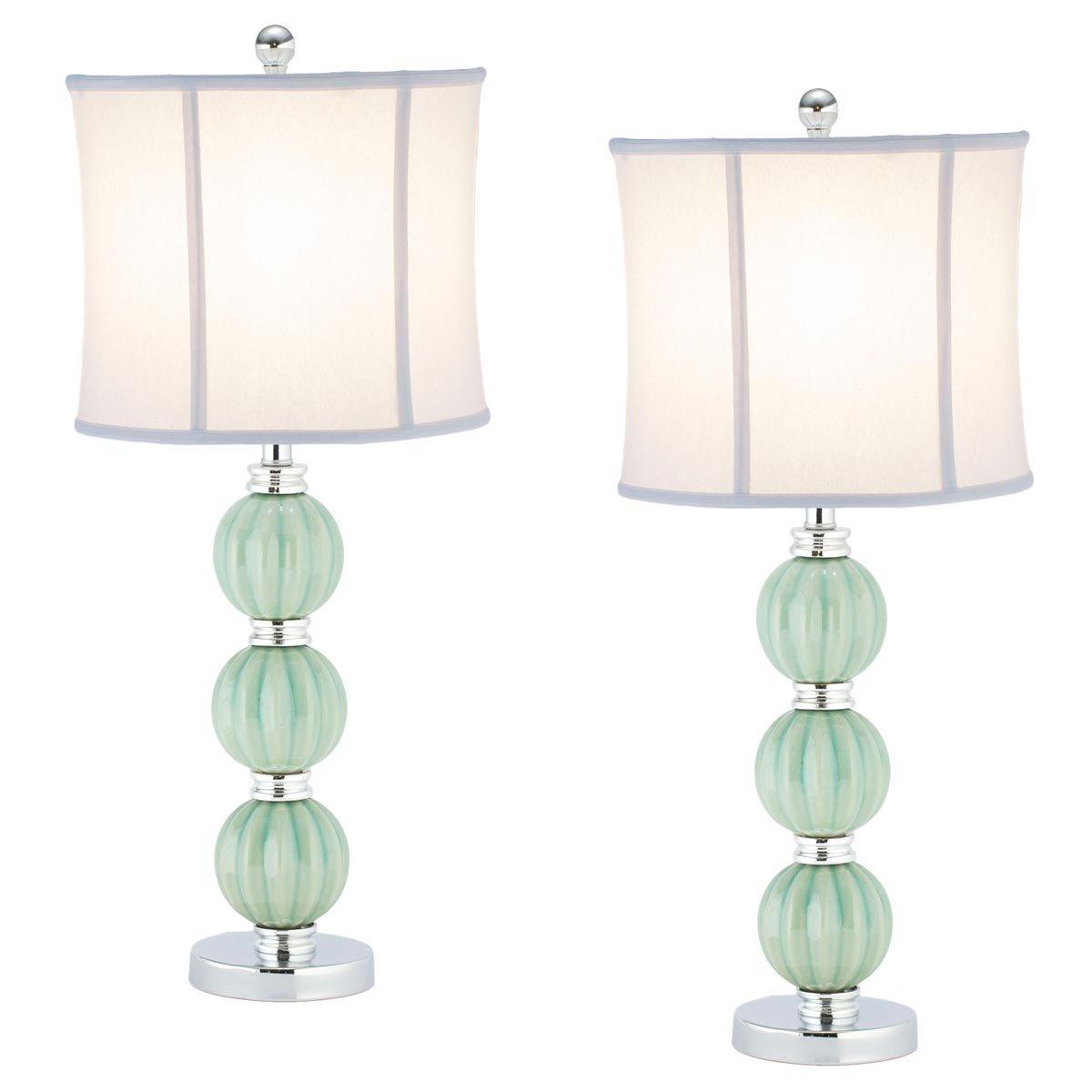 Amazon.com: Safavieh Lighting Collection Stephanie Green Globe 25 Inch  Table Lamp (Set Of 2): Kitchen U0026 Dining