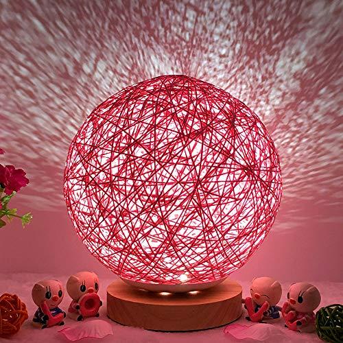 (Hot Sale!DEESEE(TM)3D USB Charging LED Rattan Moon Night Light Moonlight Table Desk Moon Lamp (D))
