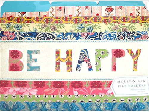 Molly & Rex 10pc File Folder Be Happy Patchwork