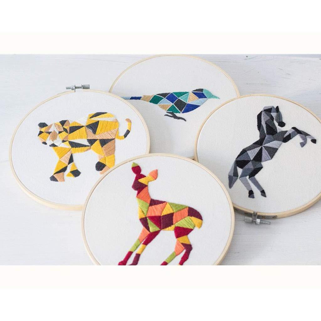 Kinder Kunsthandwerk P Prettyia 3D Stickbilder Tier Muster Stickpackung Cross Stitch mit Anleitung f/ür Anf/änger B/är Erwachsene