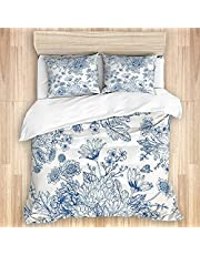 Duvet Cover King Size 104x88 inches,Terrier with its Tounge Out Adorable Yorkshire,3pcs Ultra Soft Quilt Cover Set with Zipper Closure