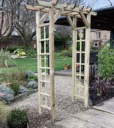 Arco de madera para jardín al aire libre con diseño de rosas ...