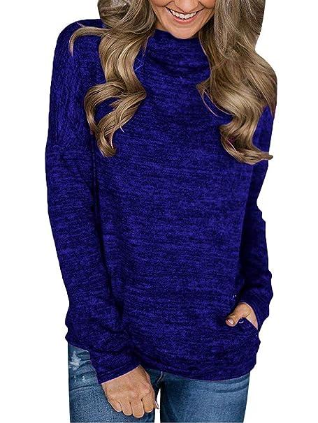 Tomwell Sudaderas Mujer Capucha Ropa de Mujer en Oferta otoño Abrigos de Mujer Z Azul ES 38: Amazon.es: Ropa y accesorios