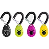 Dog Training Clicker with Wrist Strap - OYEFLY Durable Lightweight Easy to Use, Pet Training Clicker for Cats Puppy Birds Hor