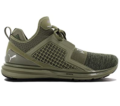 puma ignite limitless olive