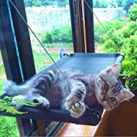 Romimiu Cat Hammock Bed, Cat Window Perch for Large Big Cat Shelves, Hanging Cat Accessories Furniture for 2 Kitty Pet…