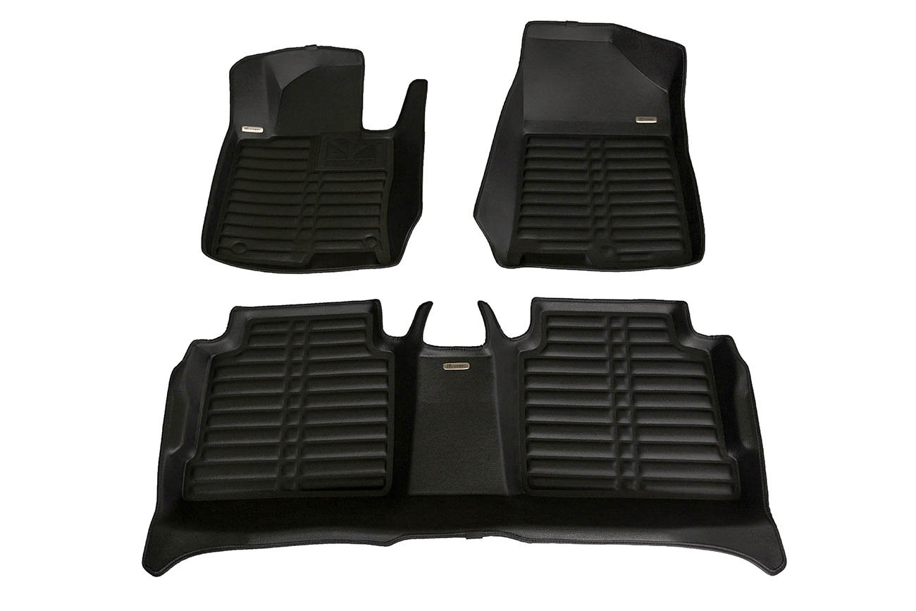 TuxMat Custom Car Floor Mats for Hyundai Sonata 2015-2019 Models  - Laser Measured, Largest Coverage, Waterproof, All Weather. The Ultimate Winter Mats, Also Look Great in the Summer.  The Best  Hyundai Sonata Accessory. (Full Set - Black)