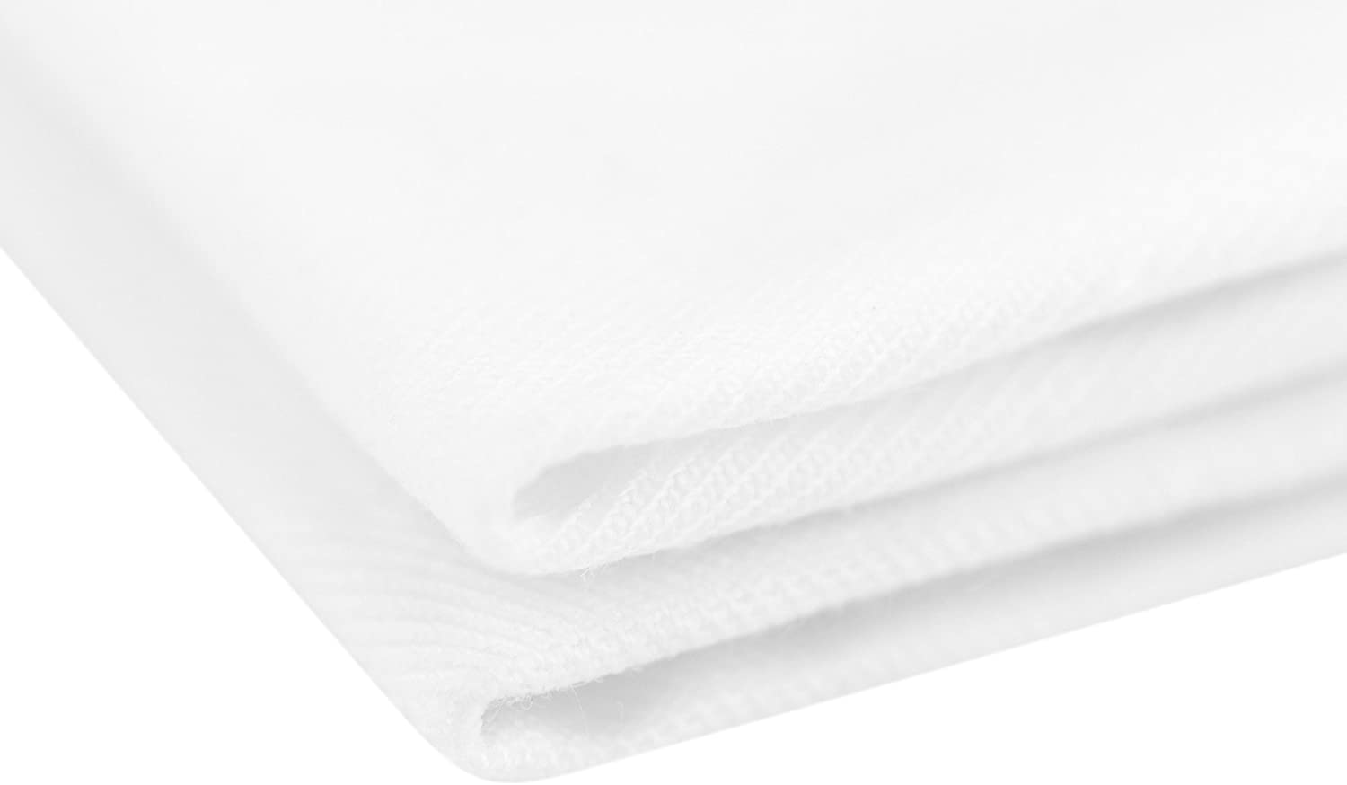 Holiday Wedding for Hotel Event Shower Picnics 48cm x 48cm // 18.9 x 18.9 inches Home Restaurant Party BBQ FiveSeasonStuff Pack of 10 Large White 100/% Cotton Dinner Napkins Buffet