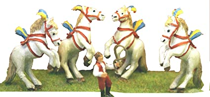 Circus Liberty Horses act trainer OO Scale UNPAINTED Kit CIR5 Langley Models