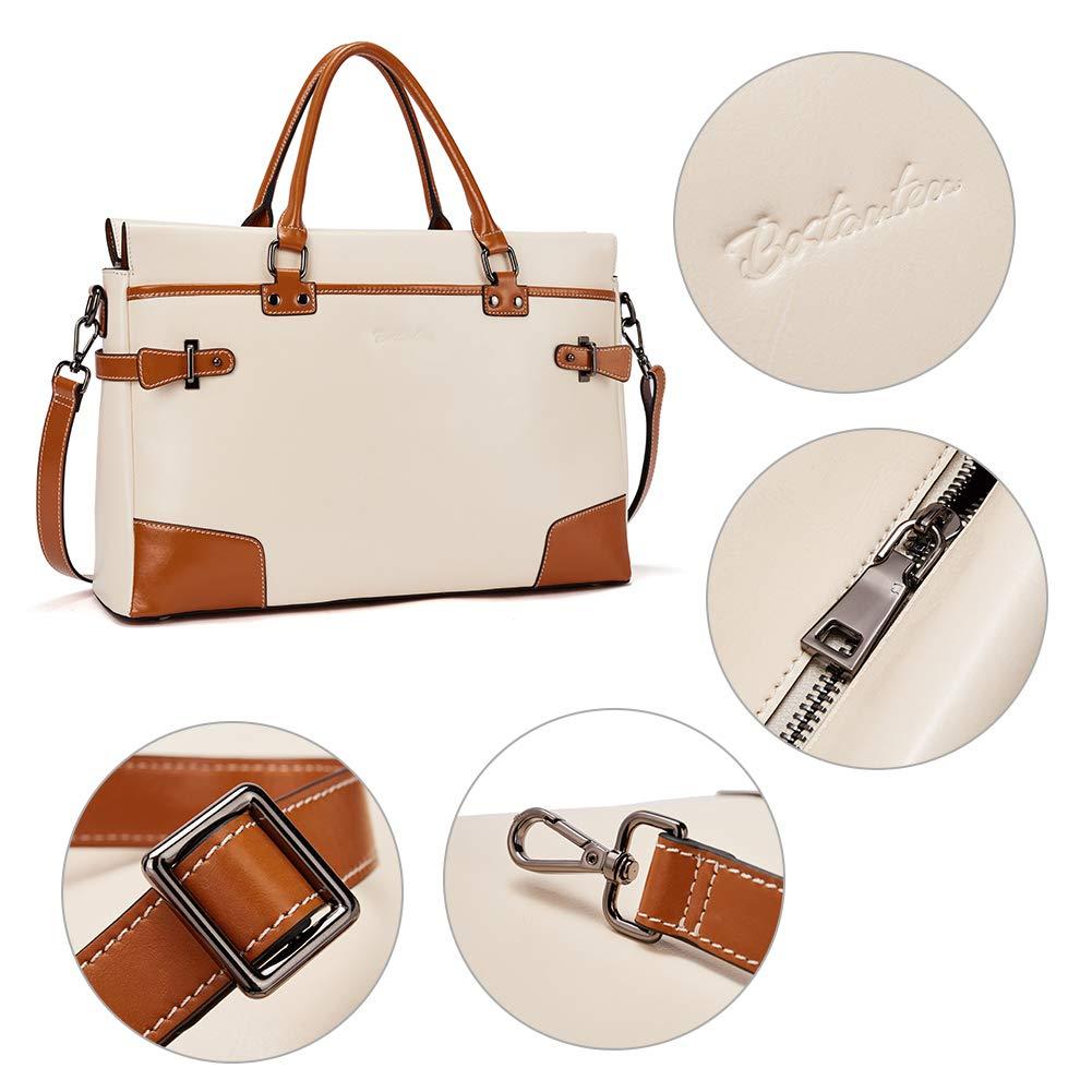 BOSTANTEN Leather Briefcase Messenger Satchel Bags Laptop Handbags for Women by BOSTANTEN (Image #6)