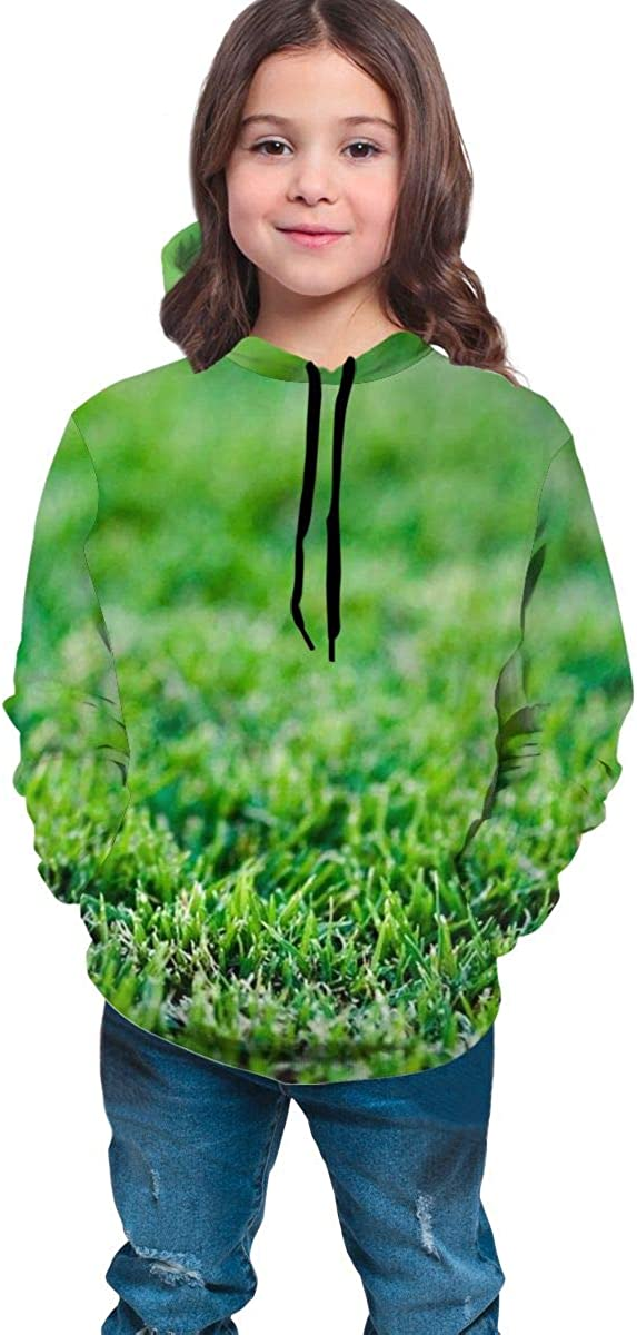 Kjiurhfyheuij Teens Pullover Hoodies with Pocket Baseball Green Grass Fleece Hooded Sweatshirt for Youth Kids Boys Girls
