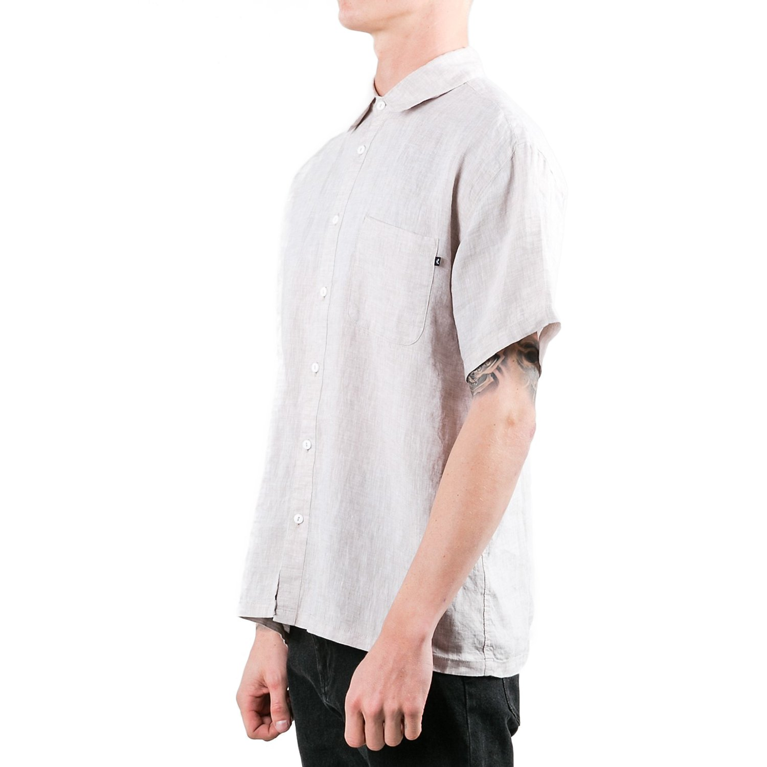 Rusty Mens Covers Button Up Short-Sleeve Shirts