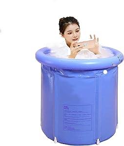 Novinex Portable foldable bathub outdoor, Freestanding bathub, Soaking Standing Bath Tub for Shower Stall, Indoor 3 Layer PVC SPA home hot tube, Inflatable bathtub for adults, kids, newborns baby