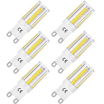 LOHAS bombillas LED G9 de 5W, Equivalentes a Lámparas halógenas de 45W, Blanca fría