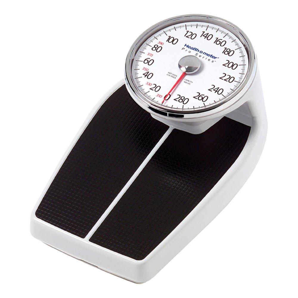 Health O Meter 160lbs. Mechanical Floor Scale, 400 lb. Capacity, 12-1/2'' x 11'' x 3'' Platform by Health o meter