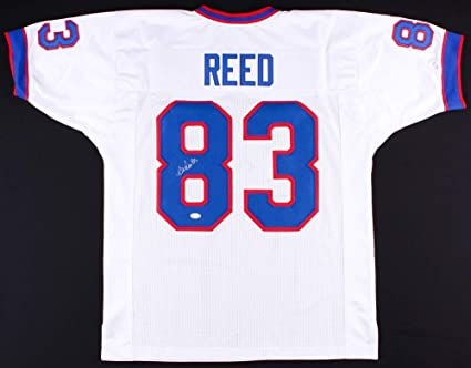 f52adb8c Andre Reed Autographed White Buffalo Bills Jersey - Hand Signed By ...