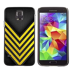 A-type Arte & diseño plástico duro Fundas Cover Cubre Hard Case Cover para Samsung Galaxy S5 (Bee Wasp Security Danger Racing)