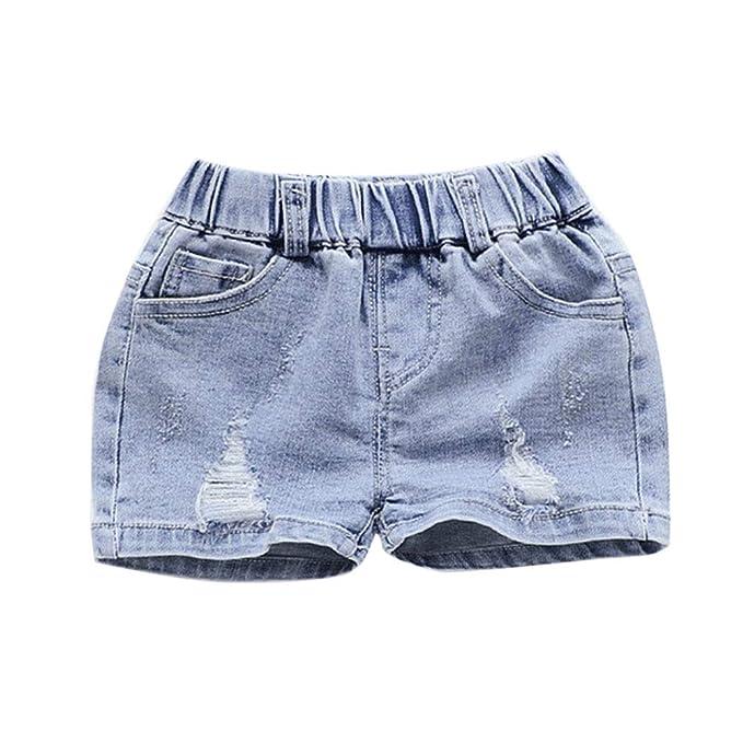 GladiolusA Niñas Pantalones Vaqueros Cortos Jeans: Amazon.es ...