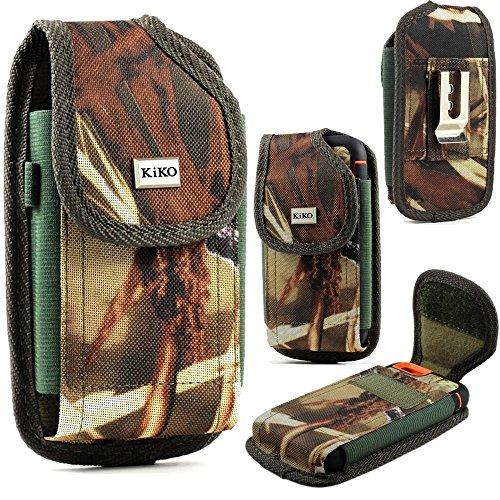 XXL Size Motorola Droid Turbo 2 / Droid MAXX 2 Camouflage Rugged Heavy Duty Vertical Holster Pouch with Belt Clip Case Cover (Fits Otter Box Defender/LIFEPROOF/Mophie Juice Pack Air/Plus Case On) (Phone Pouch For Droid Turbo)