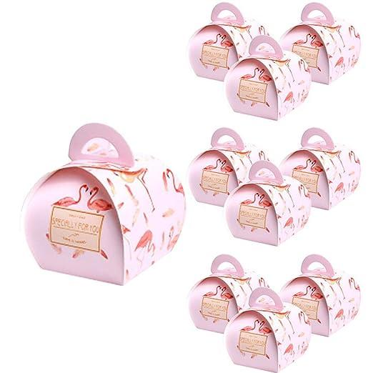 Lumanuby 10 x Flamenco Cajas de regalo Caja de dulces Caja ...