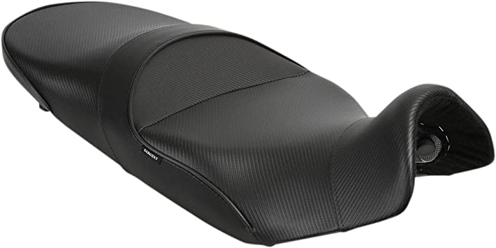 Suzuki DR650S 2015-2018 Sargent World Sport Performance Motorcycle Seat Standard Black w//Black Accent Fits