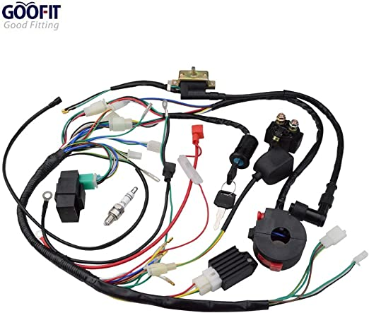Amazon.com: GOOFIT Ignition Rebuild Kit Wiring Harness for 50cc 90cc 110cc  125cc Chinese ATV Quad Bike Go Kart Buggy: AutomotiveAmazon.com