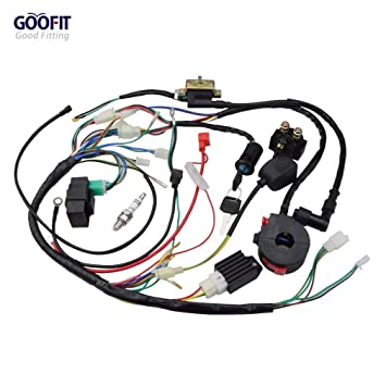 GOOFIT 50cc 125cc Full Electrics Wiring Harness Coil Rectifier CDI on