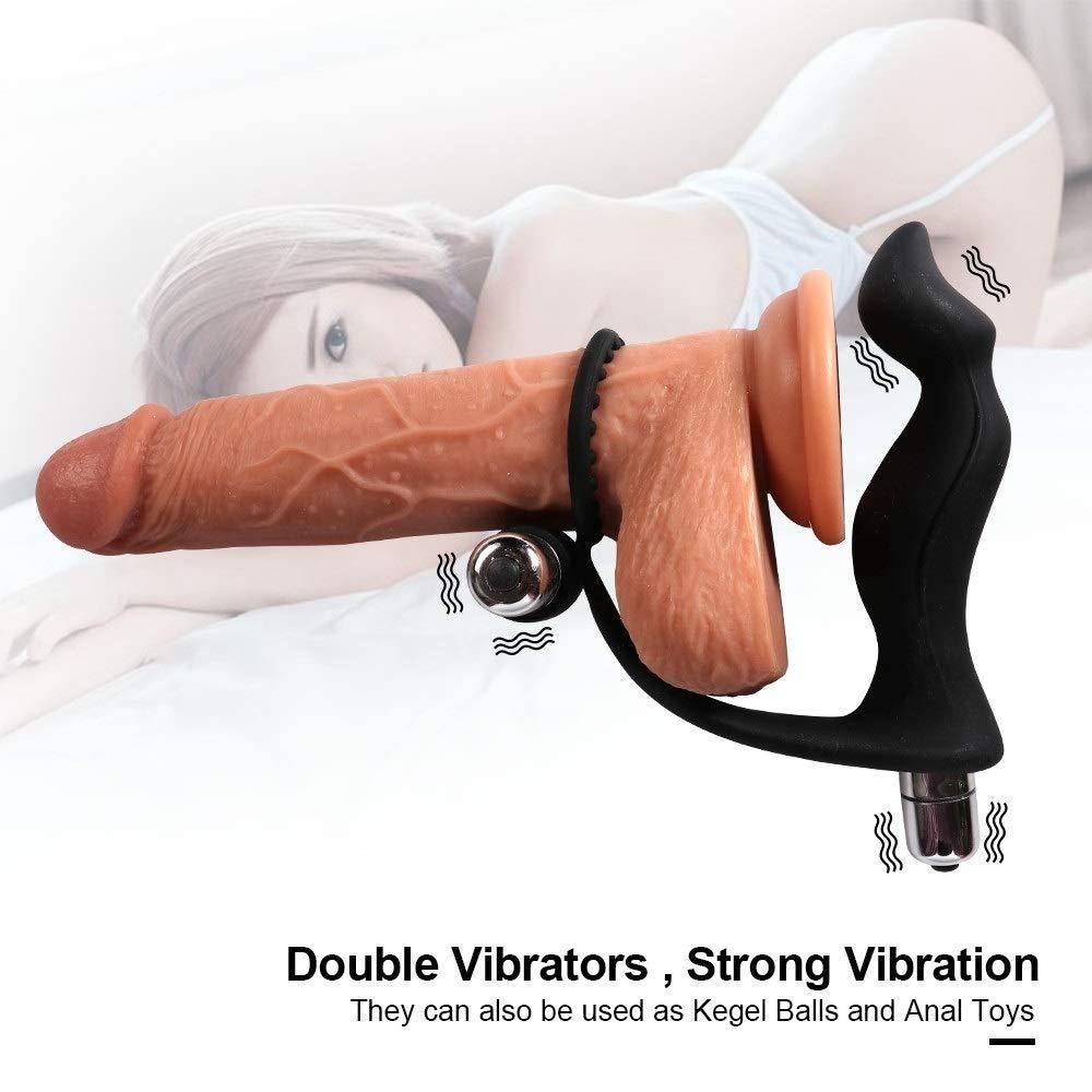 WJMMBD Male Enhancement Exercise Bands O Ring Prôstata Massager Double Vibration Blow-Job Six Toys