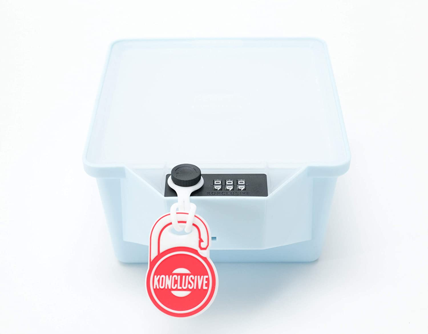 Konclusive Container | Stash Container with a Lock | Protect your Flower & Edibles | Keep Safe From Teens & Kids | Anti -Theft & Tampering | Made in the USA | Ocean Blue | Visit Amazon Store