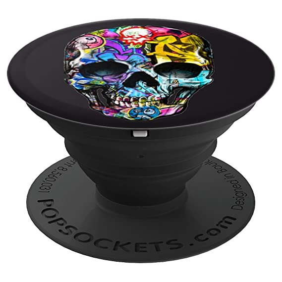 Graffiti Skull Bones Face Pop Socket Popsockets Grip And Stand For Phones And Tablets