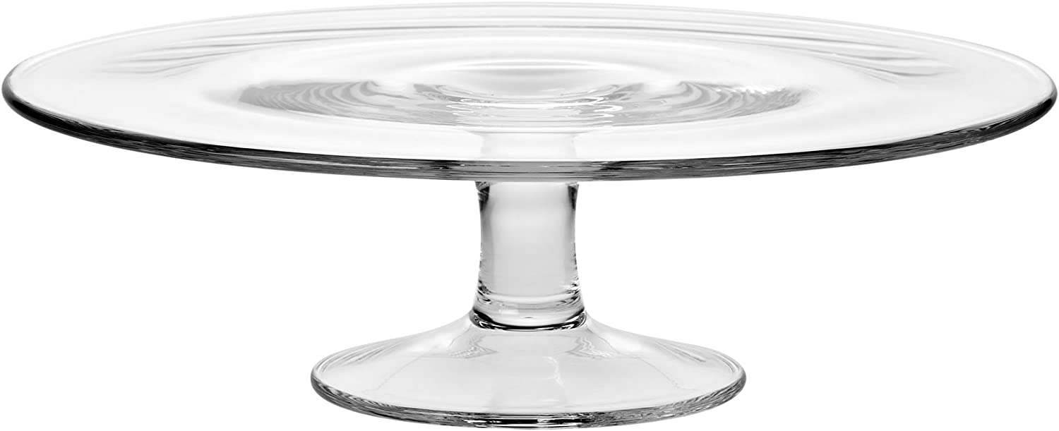 Amazon Com Krosno 764 1 Pedestal Glass Cake Plate 30 Cm 11 8 In Clear Kitchen Dining