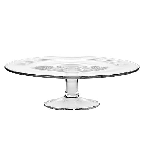 Amazoncom Krosno 764 1 Pedestal Glass Cake Plate 30 Cm 118 In