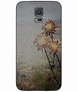 Stained Flower Glass Plastic Phone Case Back Cover Samsung Galaxy S5 I9600