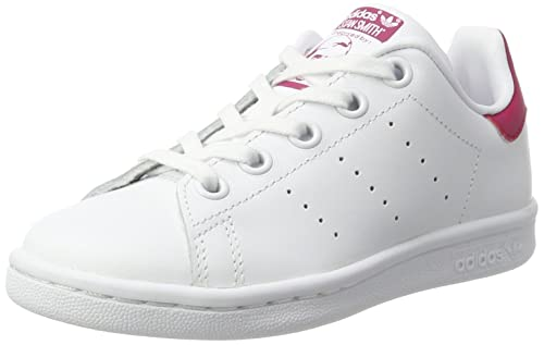acheter populaire 6fa0b b9667 adidas Unisex Kids' Stan Smith Ba8377 Trainers, White/Red ...
