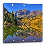 3dRose dpp_26258_3 Maroon Bells Peaks in The Elk Mountains Reflected on Aspen Lake-Wall Clock, 15 by 15-Inch Review