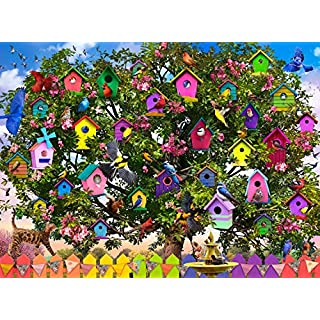 Buffalo Games - Bird Hotel - 1000 Piece Jigsaw Puzzle, Multi