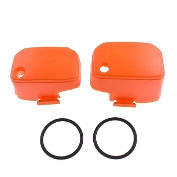 El R ¨ ¦ servoir de líquido de embrague de freno delantero couvre el protector de