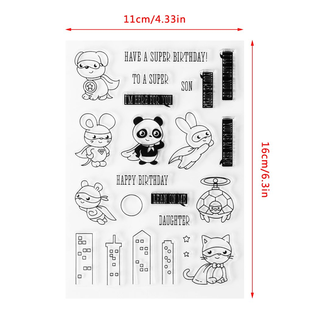 Lamdoo Birthday Clear Stamp Silicone Seal Sheet DIY Diary Scrapbooking Card Album S27