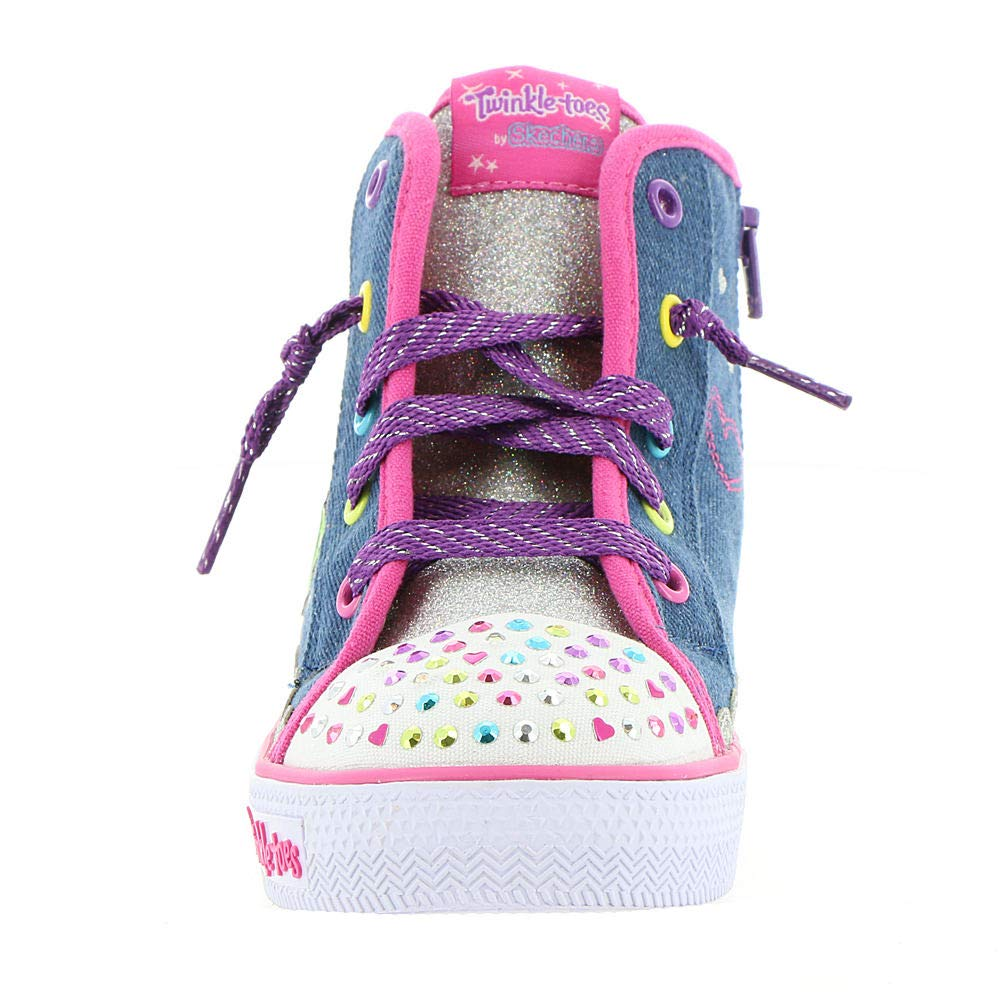 Skechers Shuffles Sparkle Skies Girls High Top Trainers 5.5