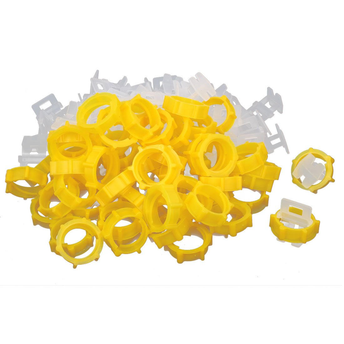uxcell Tile Leveling System Straps Caps Clips Spacers Level Tools 100pcs for Wall Floor