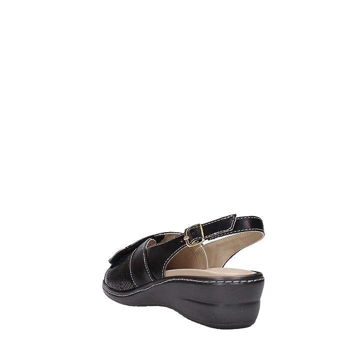 Melluso 02338 Sandalo Donna Pelle Nero Nero 40 CdKuvzsiE