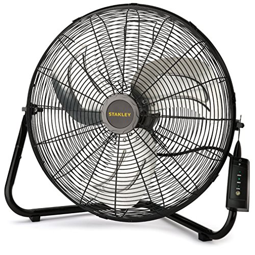 Lasko 655650 Stanley Max Performance High Velocity Floor Fan, 1-Pack, 14