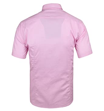 4c82d2e0 BOSS Hugo Green Mens C-Busterino Shirt, Short Sleeve Fine Dot Pink Shirt:  Amazon.co.uk: Clothing