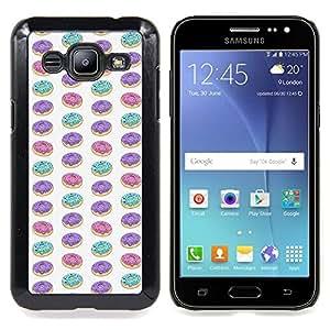 - doughnut glaze pattern purple teal pink - - Modelo de la piel protectora de la cubierta del caso FOR Samsung Galaxy J2 RetroCandy