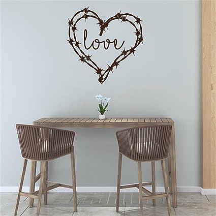 Amazon.com: Barbed Wire Heart Love Wedding Decor, Girls Bedroom Wall ...